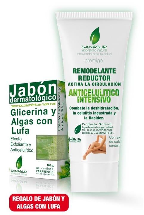 Sanasur Pack Anticelulítico Crema + Jabón Lufa