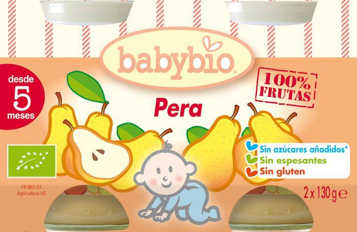 Babybio Potito de Pera 2 unidades de 130g