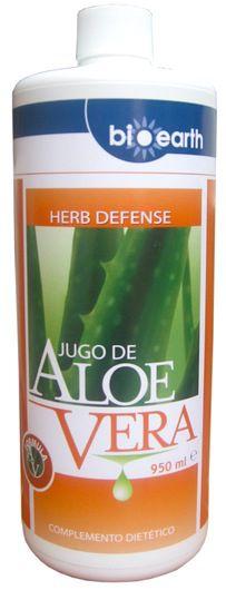 Bioearth Jugo de aloe vera Herb Defense 1 litro