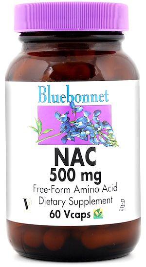 Bluebonnet NAC 500mg 60 cápsulas