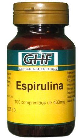 GHF Espirulina 400mg 100 comprimidos