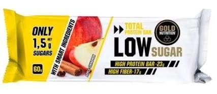Gold Nutrition Total Protein Low Sugar Sabor Manzana - Canela 10 barritas