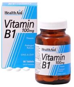 Health Aid vitamina B1 (Tiamina) 100mg  90 comprimidos