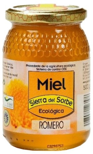 Sierra del Sorbe miel de romero ecologica 500g