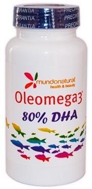 Mundo Natural Oleomega 3 80% DHA 60 capsulas