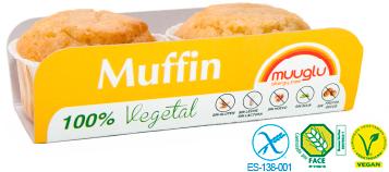 Muuglu Muffins tradicionales sin gluten 2 unidades x 120g