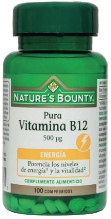 Nature´s Bounty vitamina B12 500mcg 100 comprimidos
