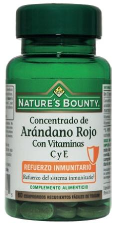 Nature´s Bounty concentrado de arándano rojo con vitaminas C y E 60 comprimidos