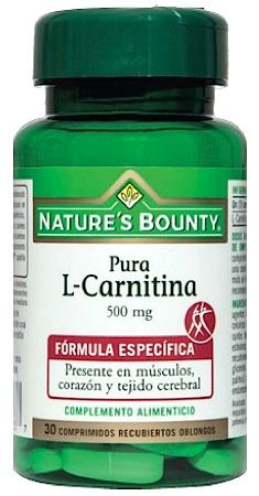 Nature´s Bounty pura l-carnitina 500mg 30 comprimidos