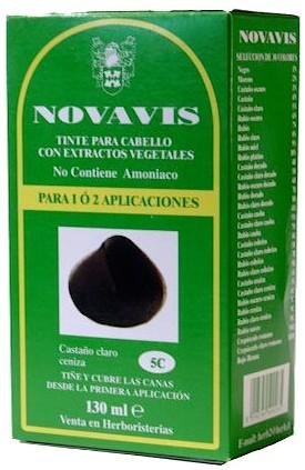 Novavis tinte vegetal 5C castaño claro ceniza