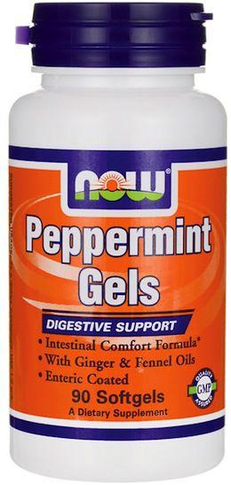 Now Peppermint Aceite de Menta con Jengibre 90 perlas