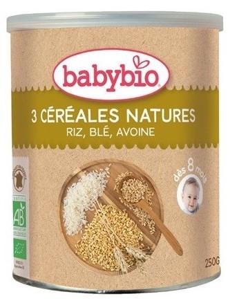 Babybio Papilla de Cereales 3 Nature 250g