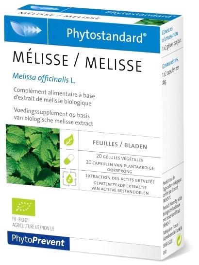 Pileje Phytostandard Melisa 20 cápsulas