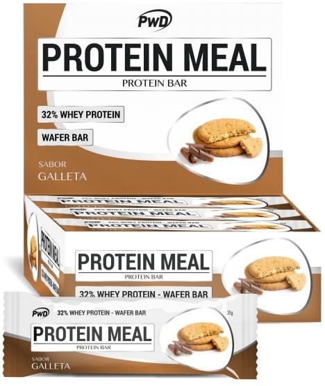 PWD Nutrition Protein Meal sabor galletas maria 12 barritas