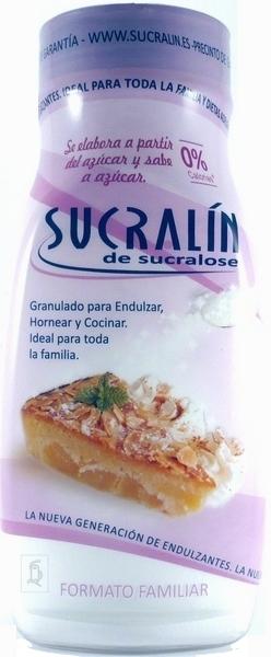 Sucralin sucralosa granulada. Envase familiar 300g