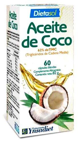 Ynsadiet Aceite de Coco 1000mg 60 perlas