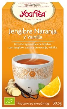 Yogi Tea Jengibre Naranja y Vainilla 17 bolsitas