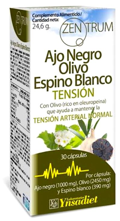 Zentrum ajo negro + olivo + espino blanco 30 capsulas